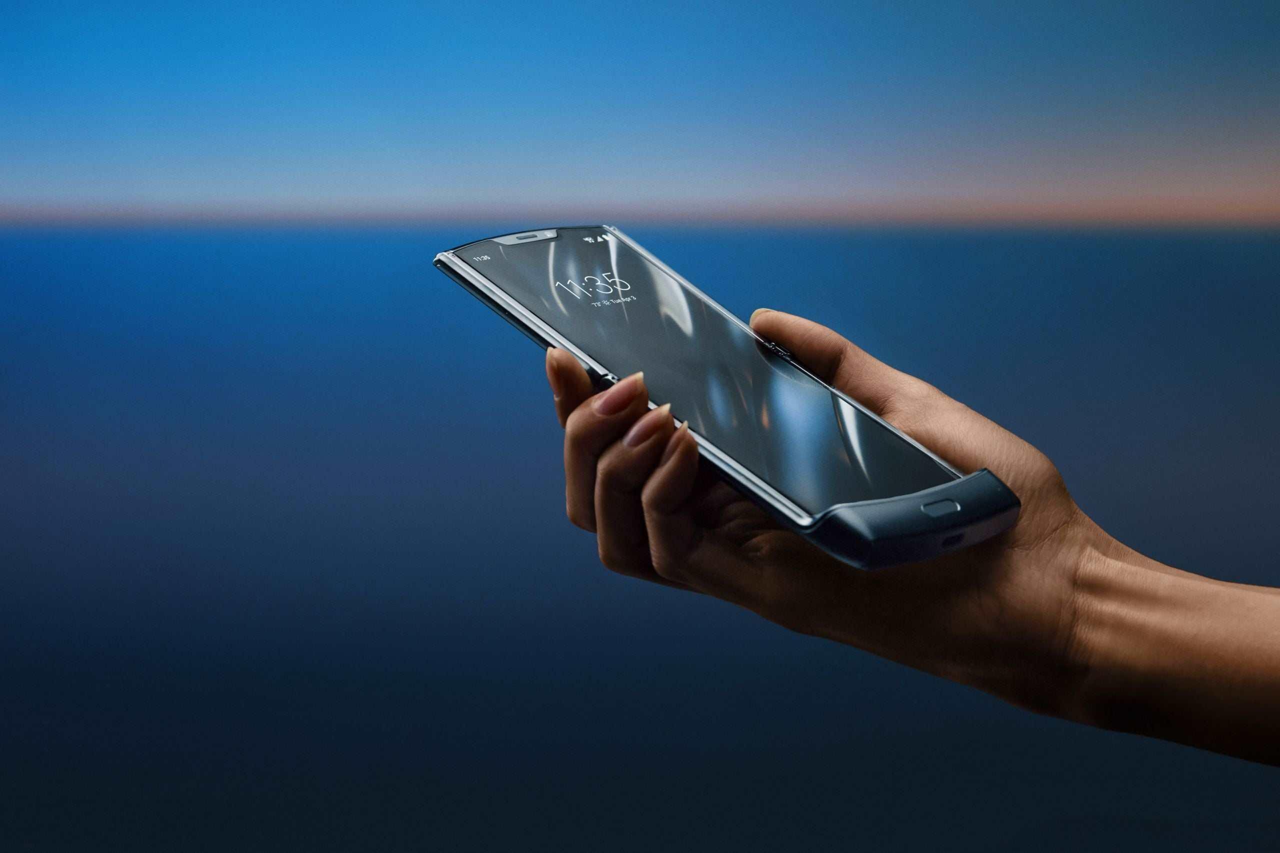 The Motorola Razr, a smartphone with a folding screen