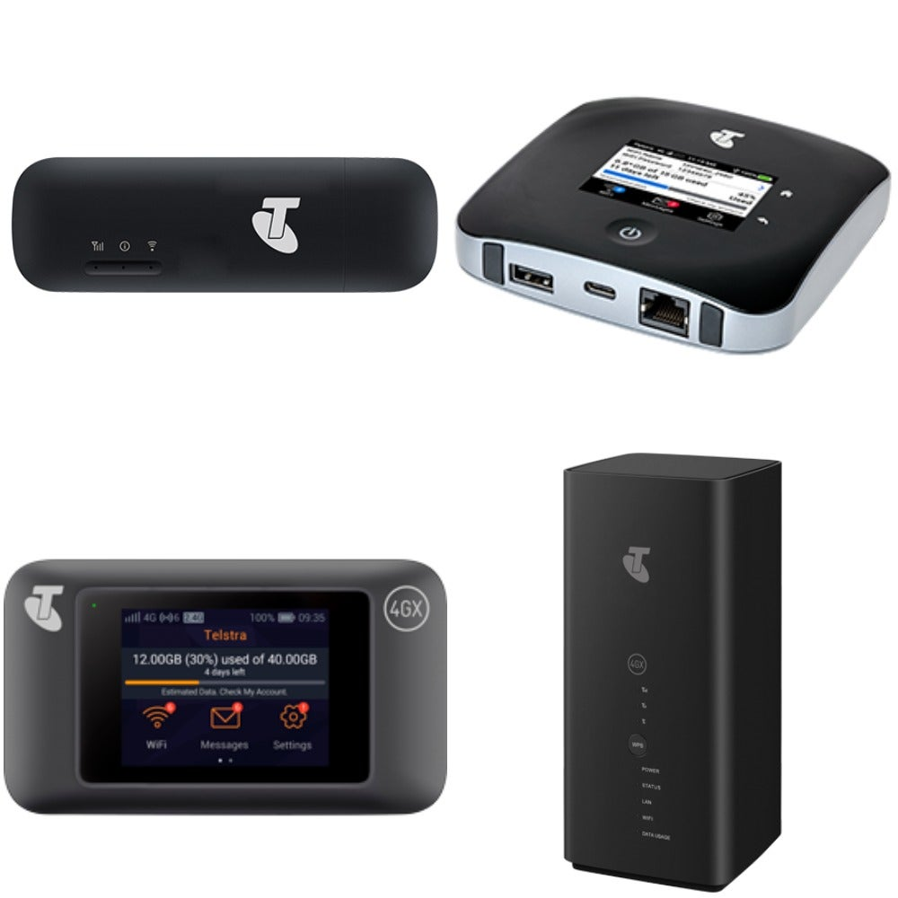 Telstra's range of mobile broadband devices