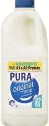 Best fresh milk full cream rating review compared Pura