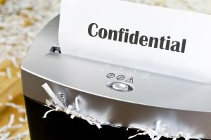 Shredding confidential documents