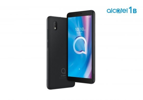 Back and Front of Alcatel 1B Black