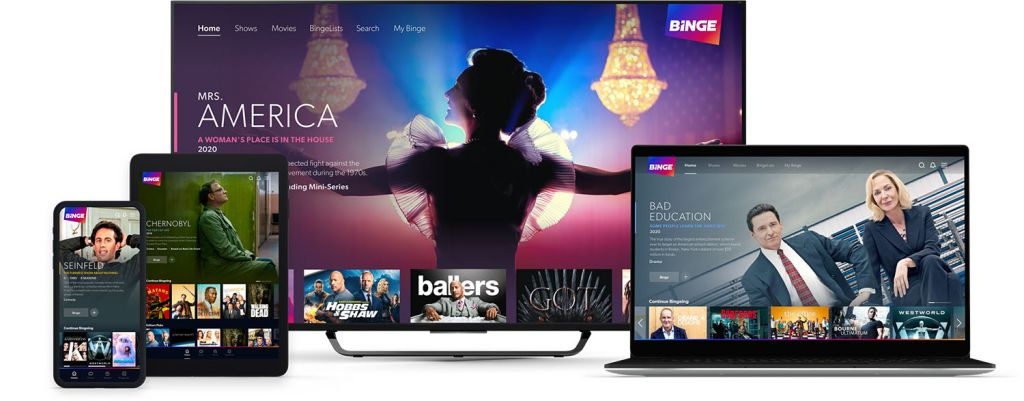 Binge streaming service on multiple devices