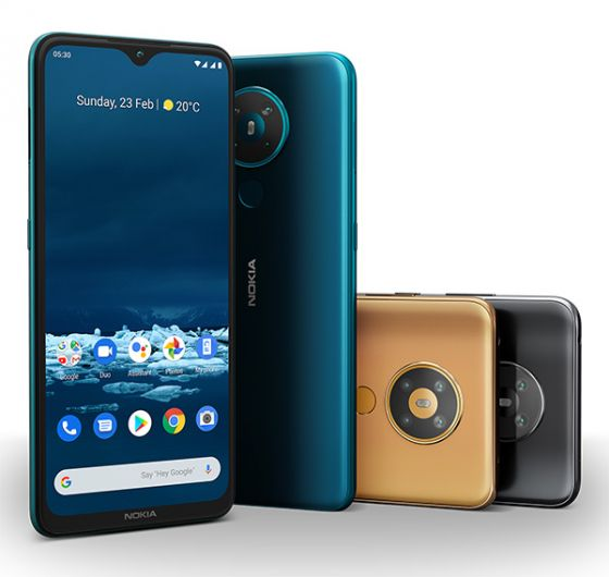 Nokia 5.3 in three colours