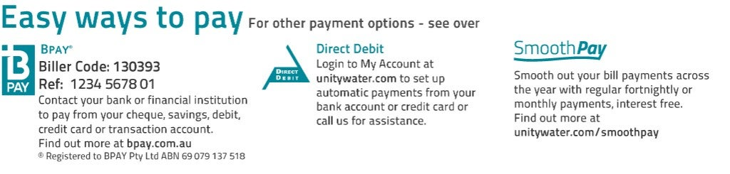 Water payment options