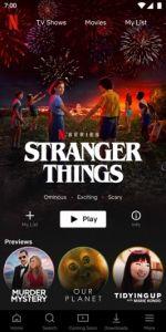Stranger Things Netflix promo ad