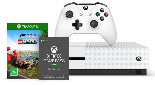 Xbox One S console with games