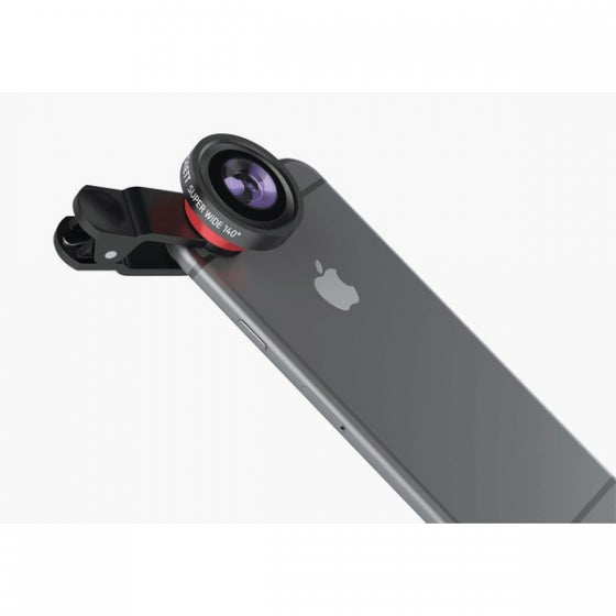 A camera accessory on an iPhone