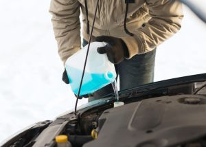 Topping up engine fluid