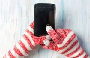 Using phone with gloves