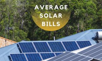 average solar bills
