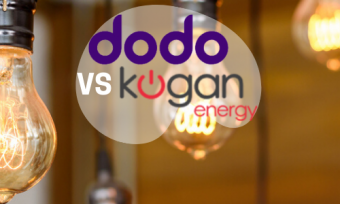 Light bulbs with dodo and kogan energy logos