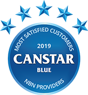 Canstar Blue Most Satisfied Customers Award for NBN Providers Aussie Broadband