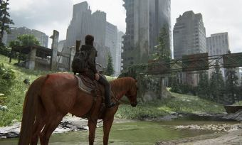 Last of Us Part II horse and city