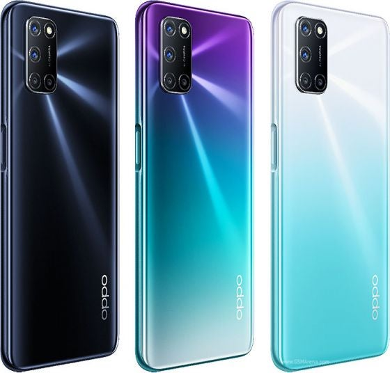The OPPO A72 in different colours