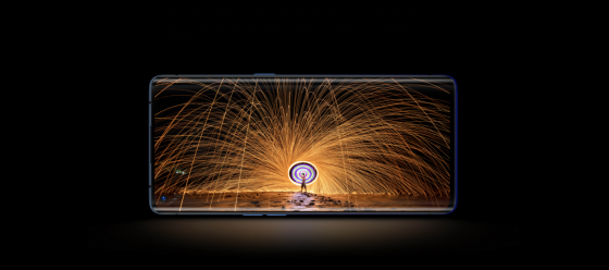 An OPPO photographing a fireworks display