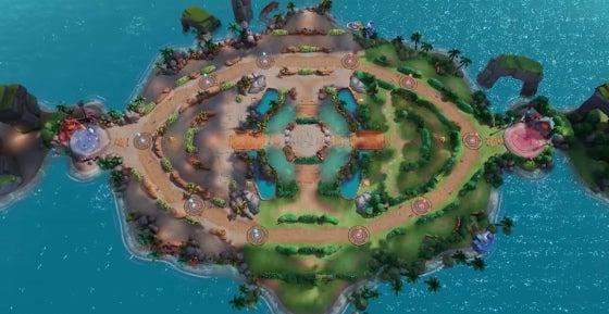 A photo of the Pokemon Unite arena
