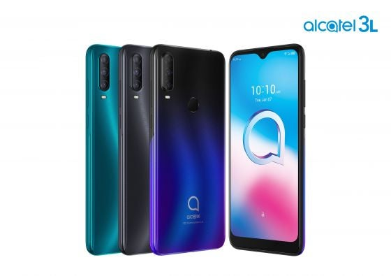 four phones from the alcatel 3L range
