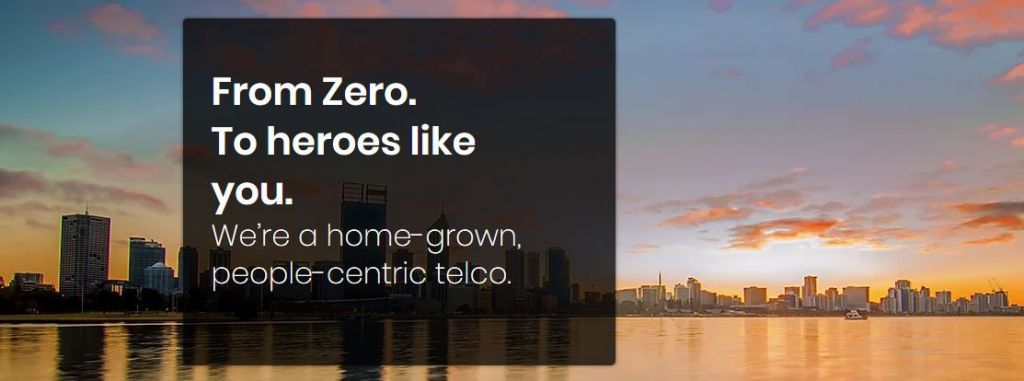 Image from Zero Mobile site, 'From Zero to heroes like you'