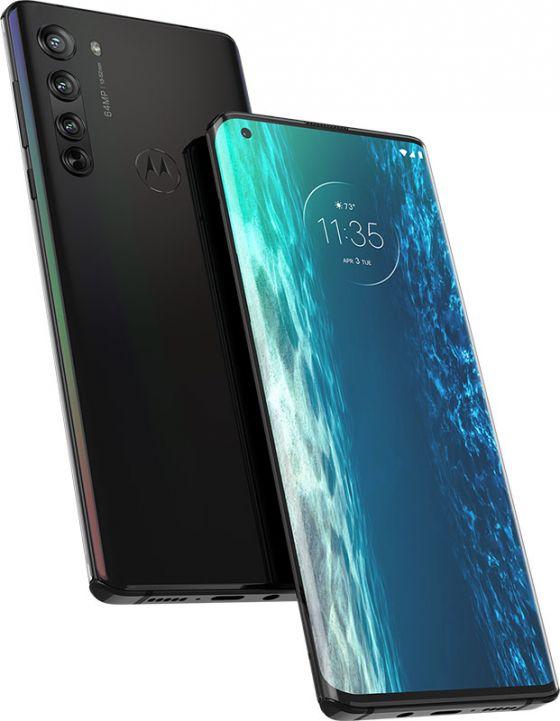 Motorola Edge phone in black