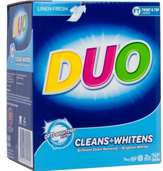 Duo washing powder