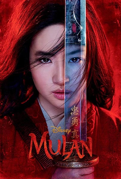 Movie poster from Disney Mulan live action remake