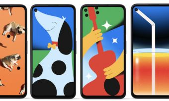 Google Pixel 4a wallpaper designs