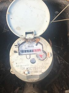 Itron water meter box with lid open