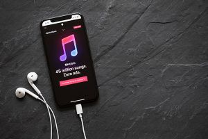 Apple music on smartphone