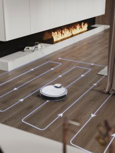 Robot cleaner that vacuums and mops
