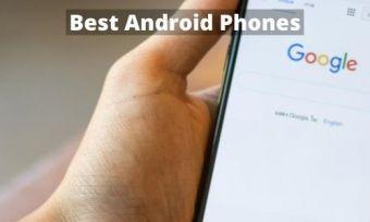 Hand using Google on smartphone