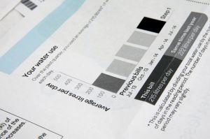 residential water bill example