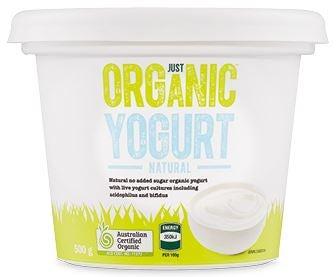 ALDI Just Organic Yoghurt