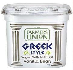 Best Farmers Union yoghurt vanilla