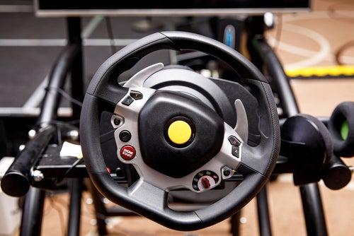Gaming wheel close up