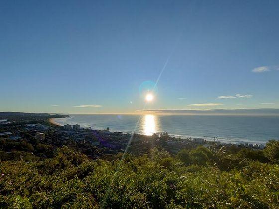 Landscape photo of sun over ocean