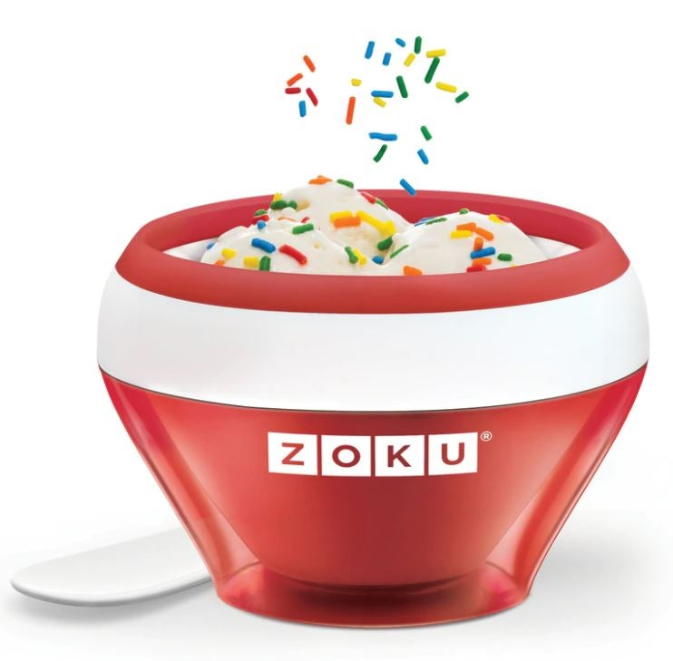 Zoku red ice cream maker