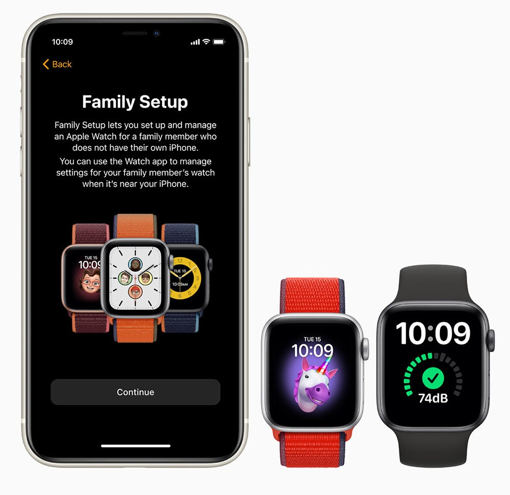 iPhone and Apple Watches with Family Setup