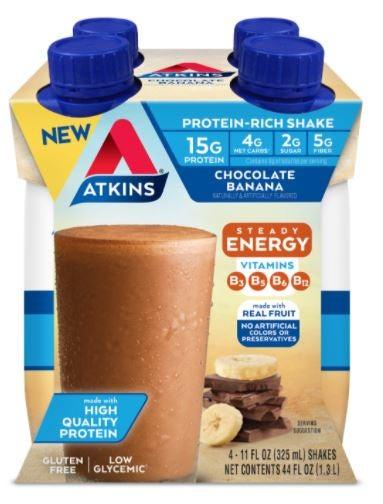Atkins choc vanilla protein shake