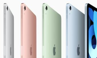 iPad Air in a range of colours