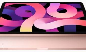 iPad Air in rose gold