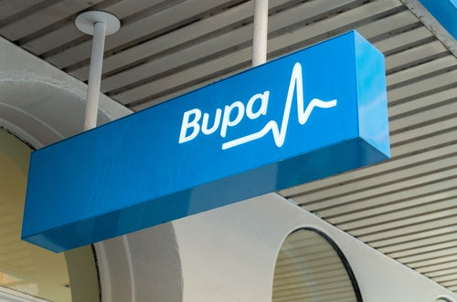 Bupa sign
