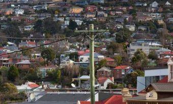 tasmania rooftops power line