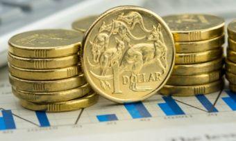 Australian coins on energy bill with calculator