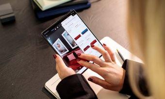 Galaxy Z Fold 2 open