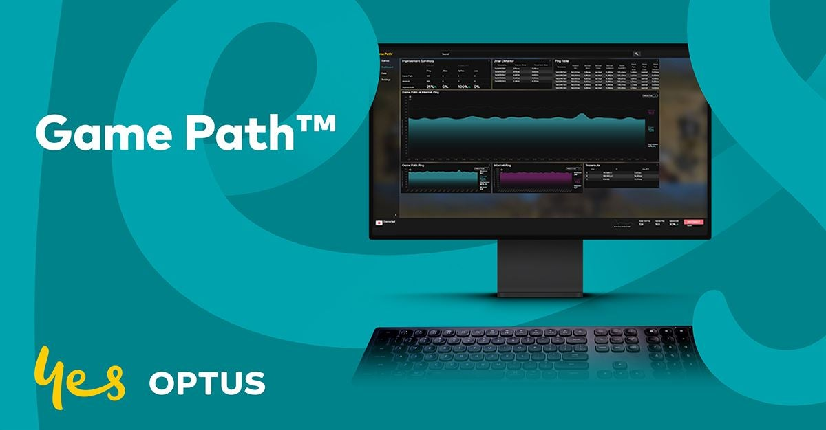 Optus' Game Path service, portrayed on a computer