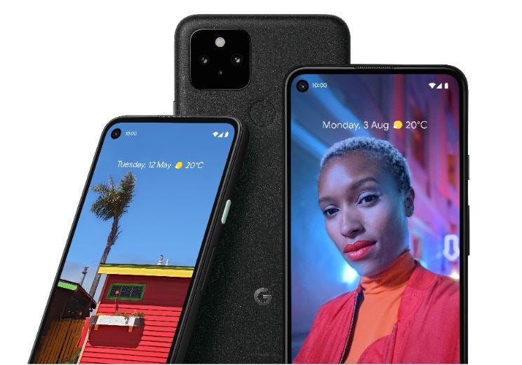 Pixel 5 all angles Black