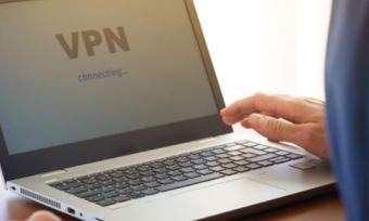 Man using VPN