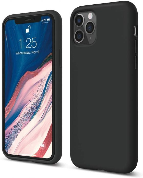 An iPhone 11 Pro in a silicone phone case