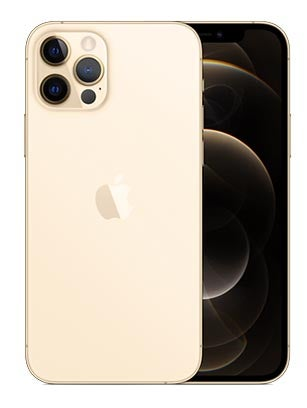 Front and back of iPhone 12 Pro in gold colourway