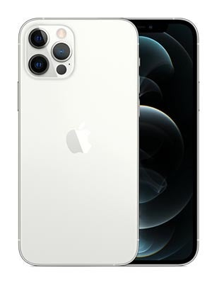 Front and back of iPhone 12 Pro in silver